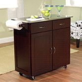 Found it at Wayfair - Dayville Large Kitchen Cart with Stainless Steel Top