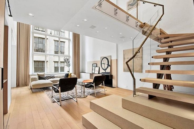 Modern interior design of a duplex apartment in New York   - hi tech loft wohnung loft dethier architecture