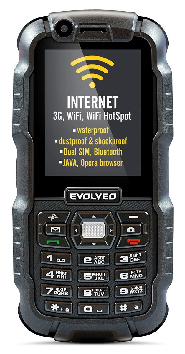 EVOLVEO StrongPhone WiFi, waterproof rugged Dual SIM phone]