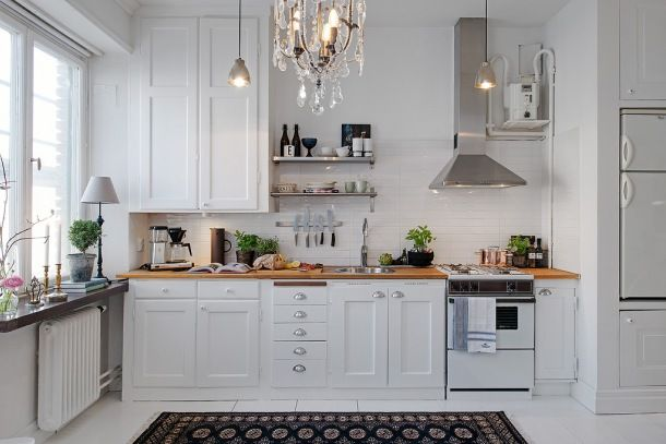 jak urzadzić biała i małą kuchnię w stylu skandynawskim ?