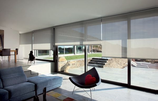 Image result for cortinas toldos interior enrollables antracite