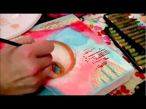 """Letting Go""Part 1 Mixed Media Painting on Canvas by Daniella Hawkes of Daniella Daydreams Art"