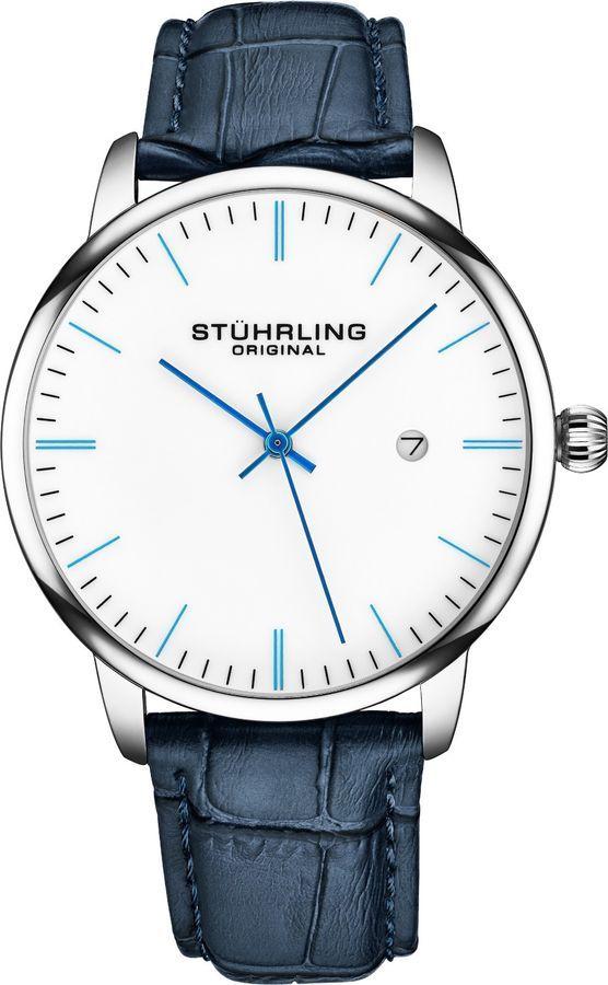 Stuhrling Original Mens Watch Calfskin Leather Strap - Dress + Casual Design - Analog Watch