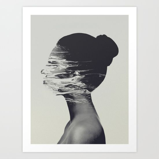 Gone Art Print by Andreas Lie - $18.00