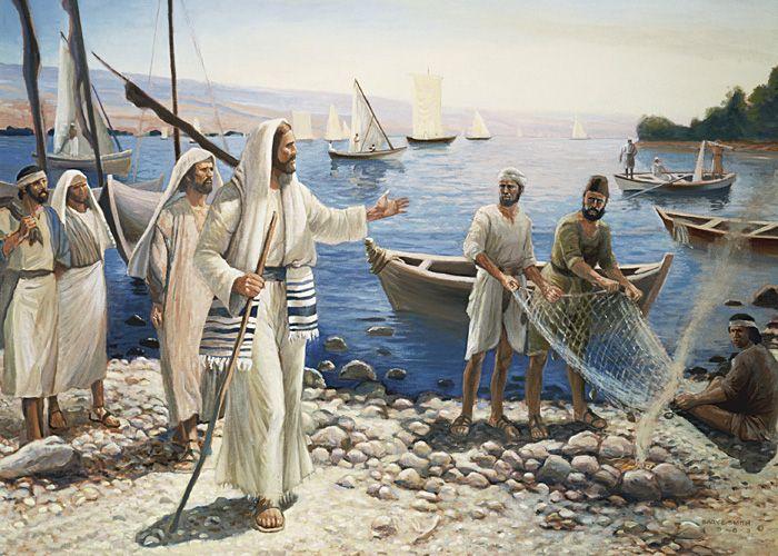 Mateo 4:17-20 Desde entonces comenzó Jesús a predicar, y a decir: Arrepentíos, porque el reino de los cielos se ha acercado. Andando Jesús junto al mar de Galilea, vio a dos hermanos, Simón, llamado Pedro, y Andrés su hermano, que echaban la red en el mar; porque eran pescadores. Y les dijo: Venid en pos de mí, y os haré pescadores de hombres. Ellos entonces, dejando al instante las redes, le siguieron.