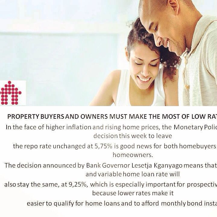 Buyers and Home owners must make the most of low interest rates