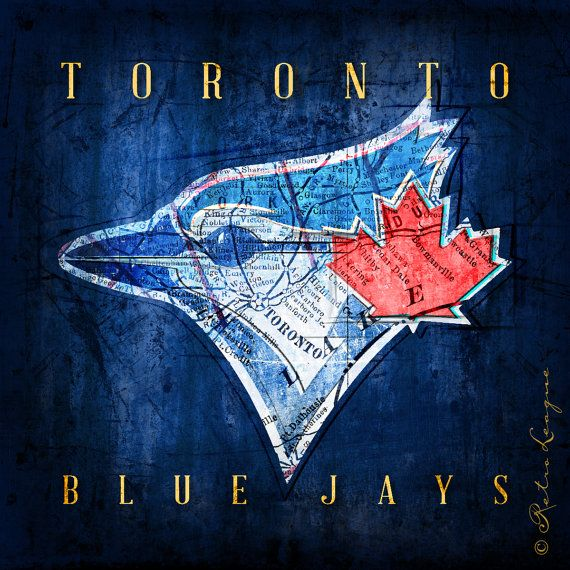 Toronto Blue Jays Vintage Map Perfect Christmas by RetroLeague