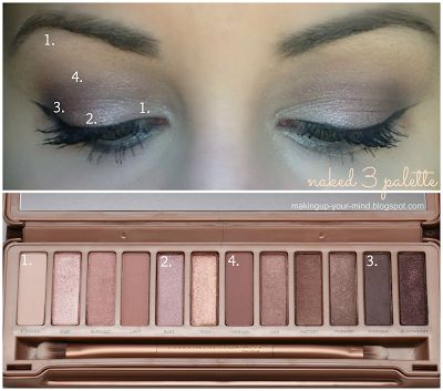 Naked 3 palette look