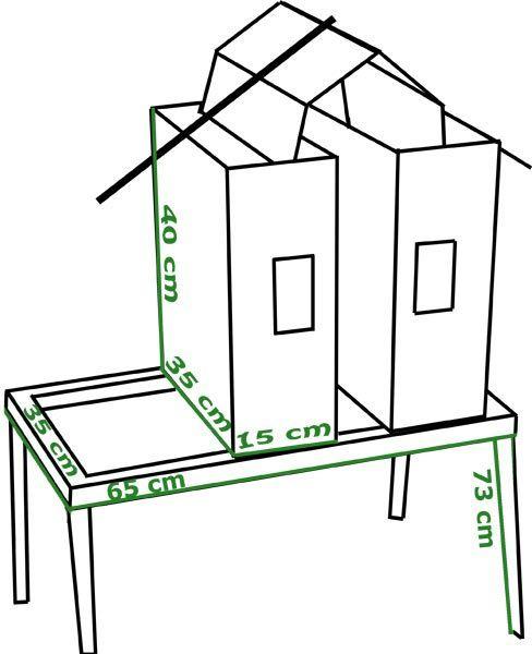 dimension du barbecue vertical