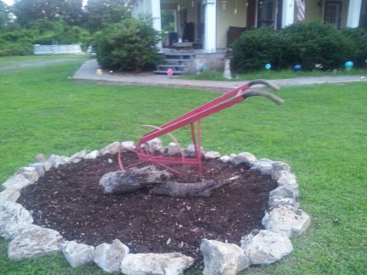My old plow in my yard.