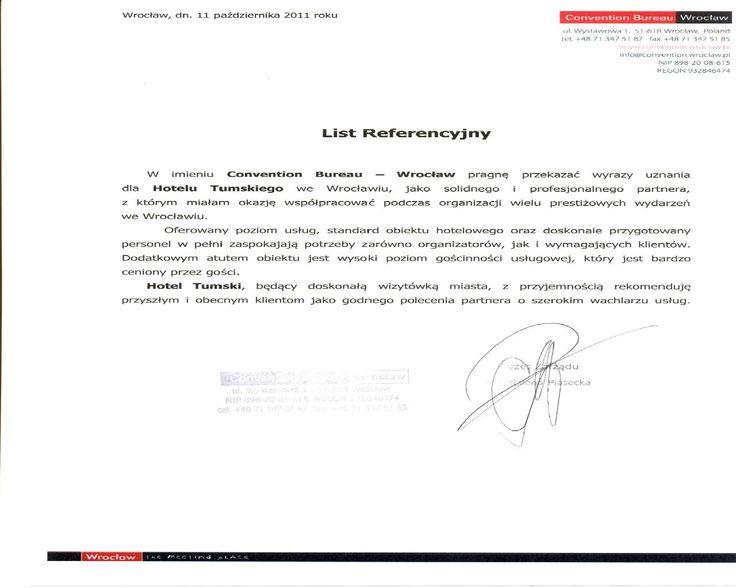 Recommendation of Convention Bureau Wrocław