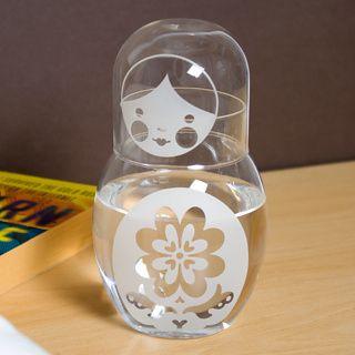 Drinkup Carafe and Glass - bedside carafe