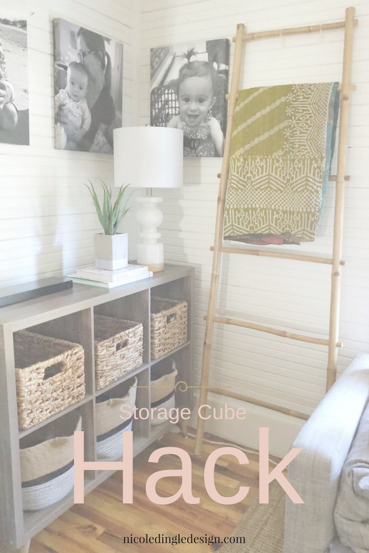 Small Space Living Form And Function Nicole Dingle Design Cube Storage Cube Storage Shelves Living Room Toy Storage #small #storage #living #room