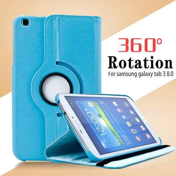 3 в 1 360 град. вращающийся PU кожаный чехол для Samsung Galaxy Tab 3 8  8 дюймов 8.0 T310 T311 T315 планшет + пленка + стилус