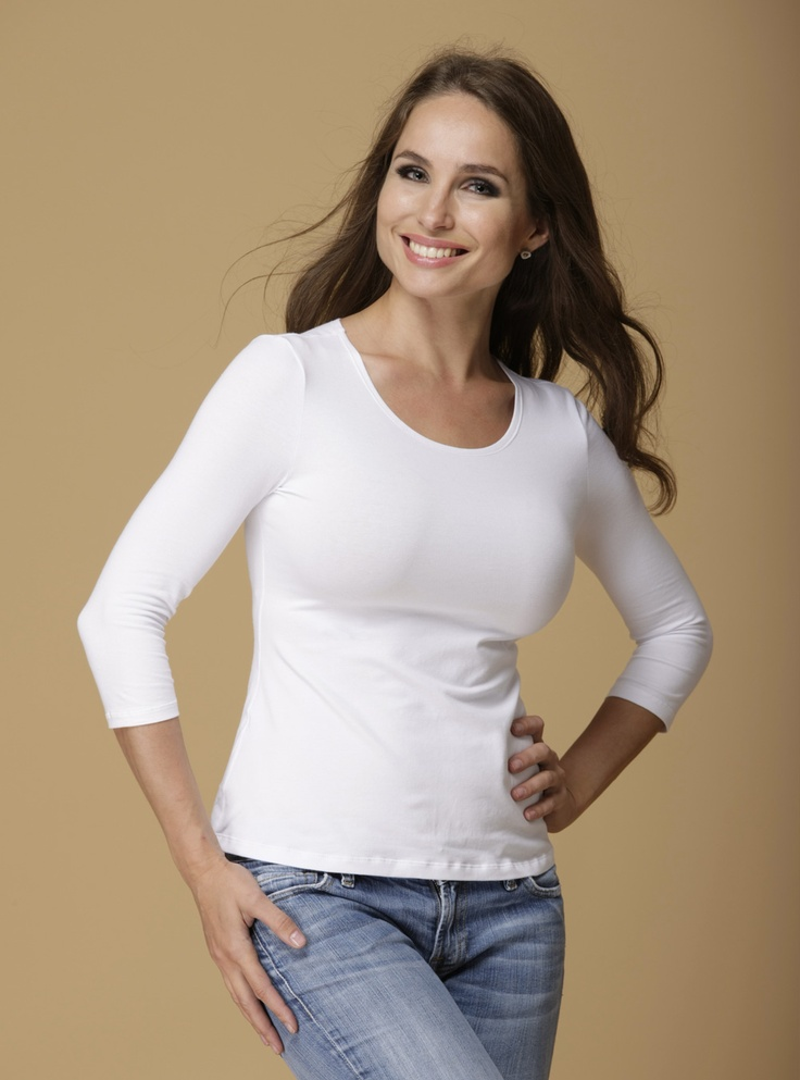 Dd-Basic Top In White  Tops That Flatter Big Busted Women -2929