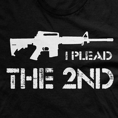 Let everyone know where you stand on gun control with this NRA inspired Plead the 2nd tee * All of our t shirts are screen printed with only super soft inks. No heat presses or iron on nonsense here.