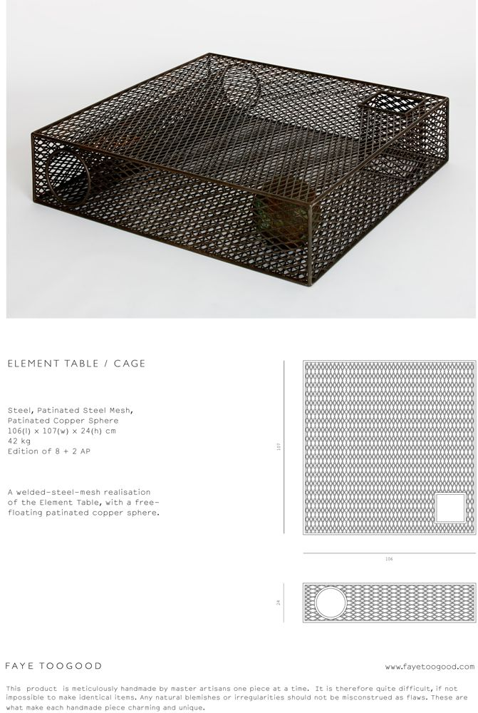 Element Table - Cage by Faye Toogood.