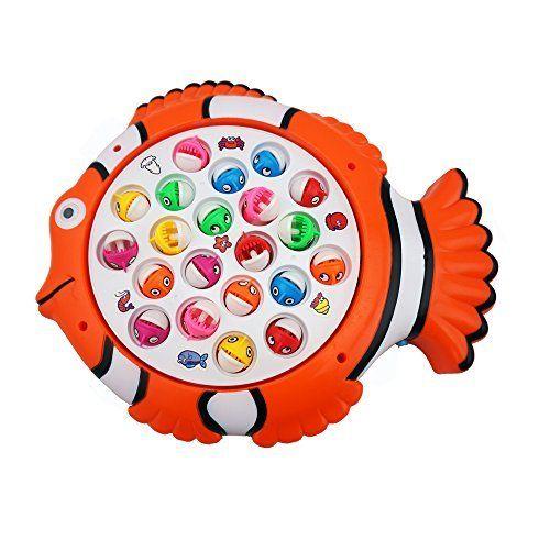 DecentGadget Allons à la pêche des jeux de simulation les enfants de jouets Jeu de pêche pour enfants: Caractéristiques: * Le jeu de pêche…
