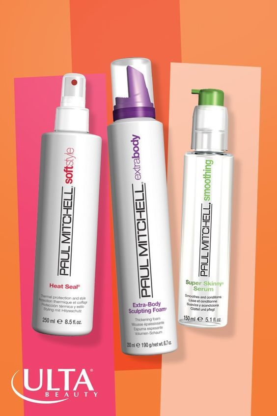 Love these Paul Mitchell hair products for soft, sleek shine and style that stay put. Super Skinny Serum, Extra-Body Sculpting Foam and Heat Seal.