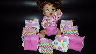 Everyday Eitings: #ThanksSanta.... Baby Alive Diapers.. homemade $.63 per diaper using old pre-fold diapers and PUL.