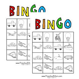 Transportation Bingo Game  Children learn so much quicker when they are having fun! Play our transportation bingo game to aid with visual recognition of some popular forms of transportation.