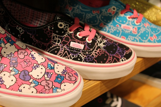 Hello kitty VANs....I just got these in white. I couldn't help it :\