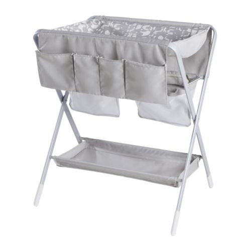 Perfect for small spaces, the Spoling Changing Table is easy to store when not in use, and comes with a washable cover and storage pockets. $80