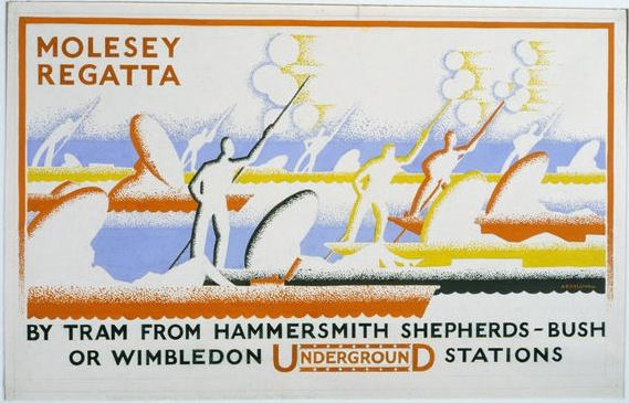 1933 Molesey Regatta by Tram from Hammersmith Shepherds Bush or Wimbledon Underground Stations