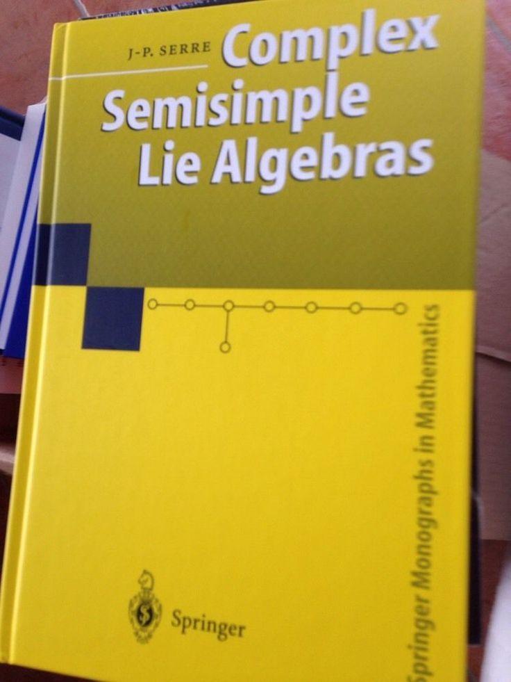 complex semisimple lie algebras