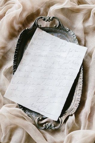 Calligraphy love letter and wedding vows   SOVISUAL Photography