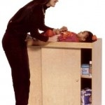 *each room must have one industrial changing table similar to this*