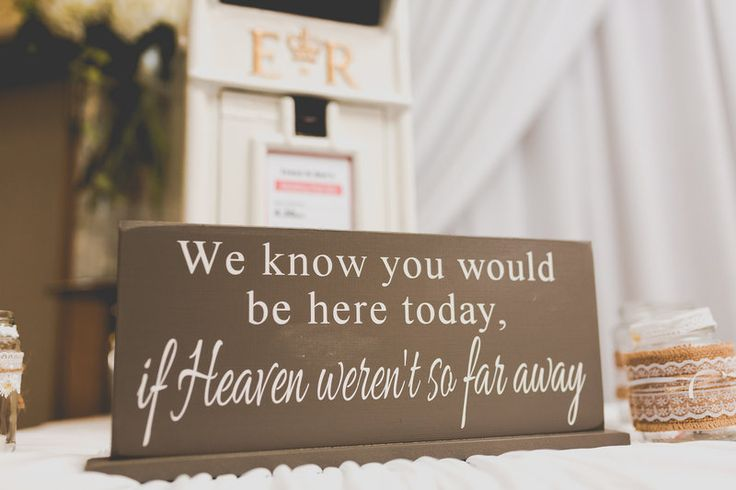 memorial wedding sign www.samandlouise.co.uk