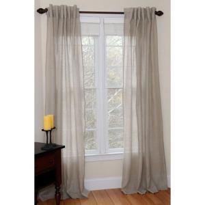 $27.47 Plain Linen Air Natural Rod Pocket Curtain-149 at The Home Depot