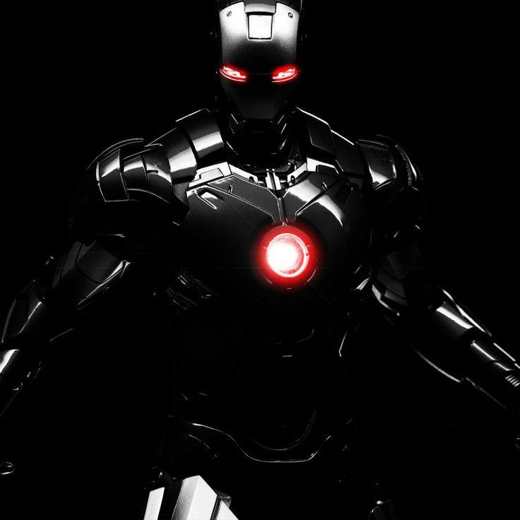 Black Iron Man Dark Warmachine Marvel Comics IPad