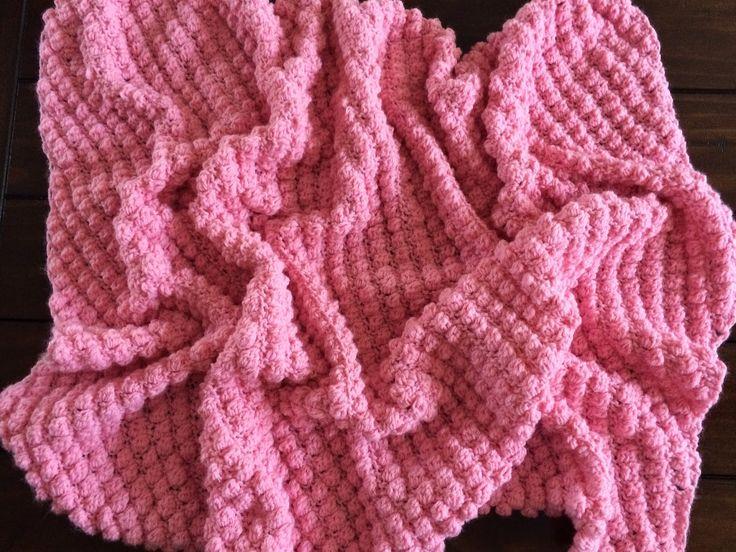 Tunisian Crochet Puff Stitch Baby Blanket - Free Pattern