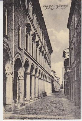 Al Trust delle Cartoline Postcard - Bologna - Via Mazzini Palazzo Ercolani  c 1909
