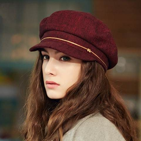 714d48102db British style beret hat Vintage design womens newsboy caps for winter or  autumn Supernatural Style