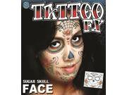 FX-Sugar Skull Face Tattoo