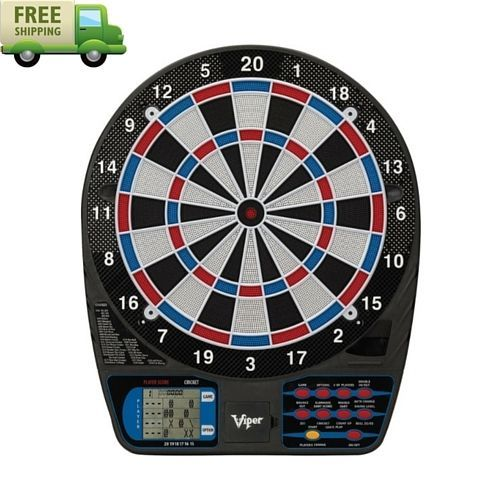 Electronic Dart Board Set Vintage Darts Game Indoor Arcade Games 15 Inches Toys