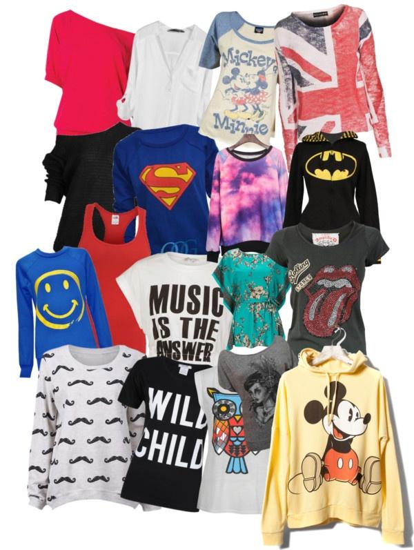 """Shirts ;)"" by ashlynnbescene666 ❤ liked on Polyvore"