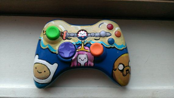 Custom painted adventure time xbox 360 controller | Xbox ...