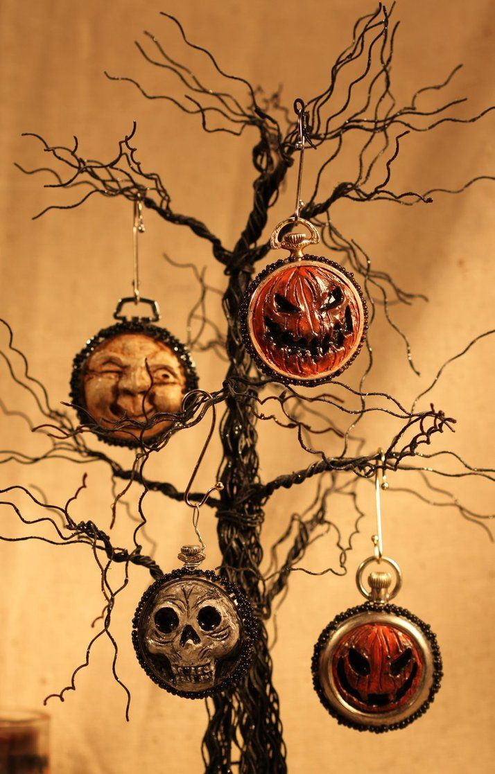 halloween ornies by labyrinthcreations on deviantart holiday ornamentshalloween - Halloween Christmas Ornaments