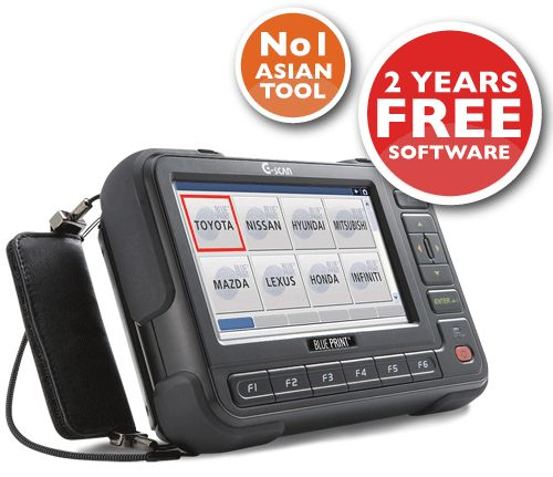 The G-Scan Lite and Full Asian Kit includes comprehensive and rapidly expanding data for a number of popular European vehicles. G-Scan has been named the best selling diagnostic tool in Japan from 2008 to 2012, which is by far and away the most demanding and critical market for an Asian diagnostic tool.
