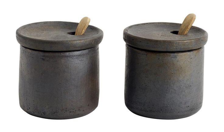Salt and pepper set with lid Hazel
