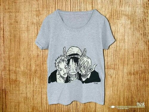 Hand painted anime t-shirt