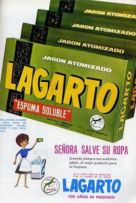 VINTAGE, EL GLAMOUR DE ANTAÑO: Publicidad Antigua Jabón Lagarto