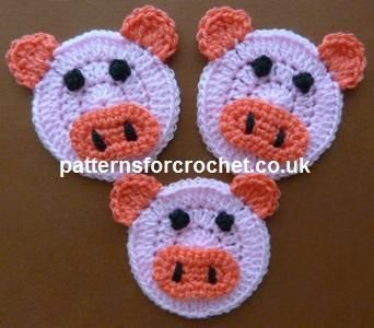 Looking for your next project? You're going to love pfc162-Piglet Applique crochet pattern by designer justcrochet. - via @Craftsy