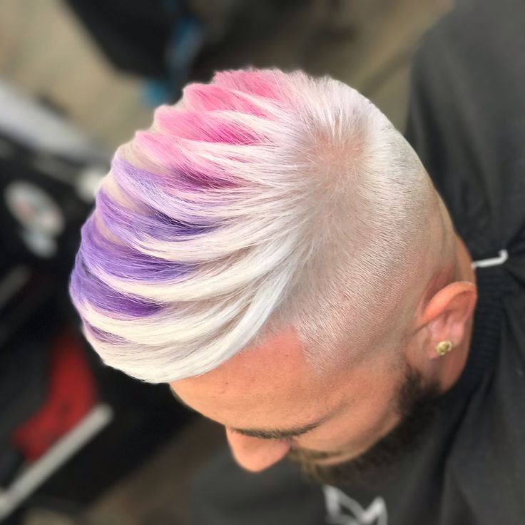 Hair color for men can be so much more than covering gray. The entire rainbow is an option. Check out these pictures of merman hue in every possible hue. When considering going bright, start with your