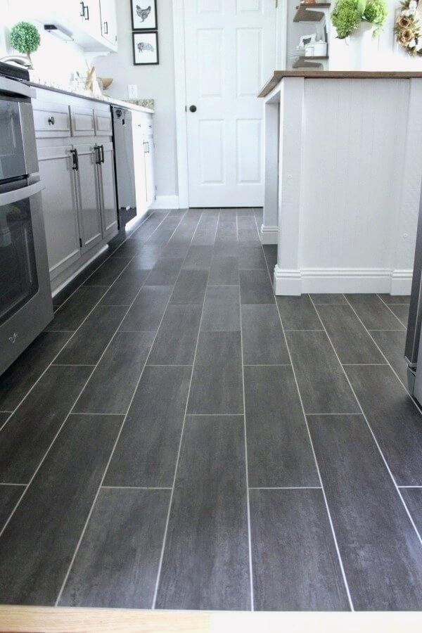 17 Kitchen Ceramic Tile Floor Ideas In 2020 Diy Kitchen Flooring Kitchen Flooring Trends Vinyl Flooring Kitchen