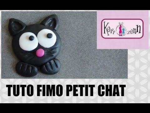 TUTO FIMO POLYMERE PETIT CHAT FACILE A FAIRE MODELAGE LOISIRS CREATIFS